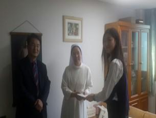 2017년 성가요양원 방문 하여 추석 성금 전달