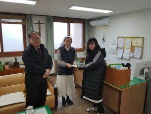 Visited and made New Year's donation to Sung-Ga nursing home in 2018.
